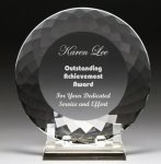 Corporate Crystal Facet Plates Executive Crystal Awards