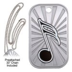 Music Dog Tag Music Trophy Awards