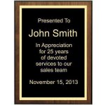 Bevel Walnut Veneer Plaque Recognition Plaques