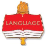 Language Lapel Pin Scholastic Trophy Awards