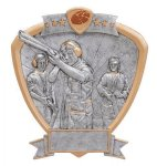 Signature Series Trap Shooter Shield Award Signature Shield Resin Trophy Awards