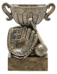 Sport Cup Baseball Antique Gold Sport Cup Resin Trophy Awards