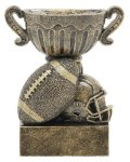 Sport Cup Football Antique Gold Sport Cup Resin Trophy Awards
