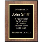 Walnut/Black Edge Plaque Walnut Plaques